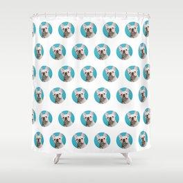 Pop Art Frenchie Shower Curtain