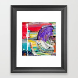 Abstract Summer Land Framed Art Print