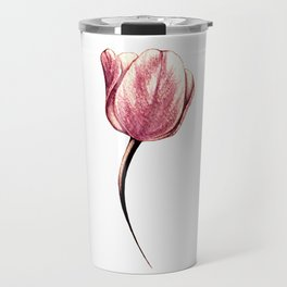 A single rose gold tulip Travel Mug