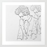 harry Art Prints featuring Harry by Louana AB