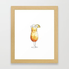 Watercolor hand-painted cocktail illustration Framed Art Print