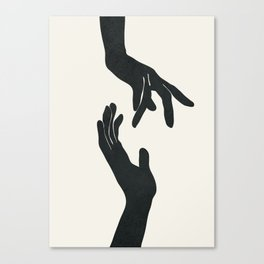 Abstract Hands Canvas Print