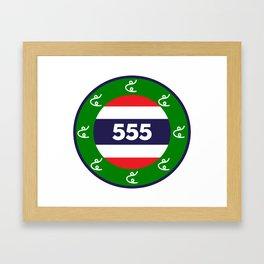 Thai flag roundel  555  HA HA HA Framed Art Print