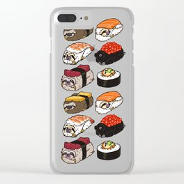 Sushi Sloth Clear iPhone Case