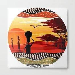 Colors of africa Metal Print