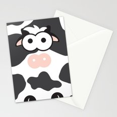 Minimal Cow Stationery Cards