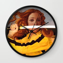 Botticelli's Venus & Beatrix Kiddo in Kill Bill Wall Clock