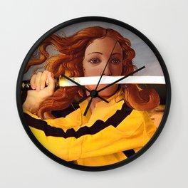 Botticelli's Venus & Beatrix Kiddo in Kill Bill Wall Clock