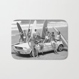 Vintage Beach Party Mustang Bath Mat