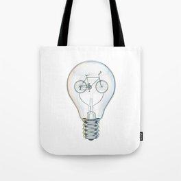 Light Bicycle Bulb Tote Bag