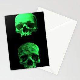 Skull quartet green Stationery Cards