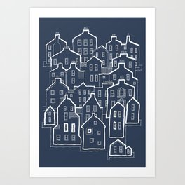Old Town / 9 Art Print