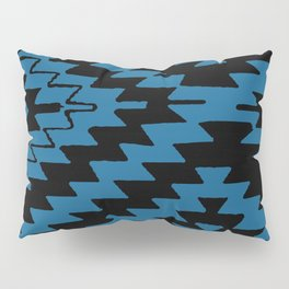 Blue Black Kilim Rug Pillow Sham