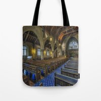 christ Tote Bags featuring Christ Church by Ian Mitchell