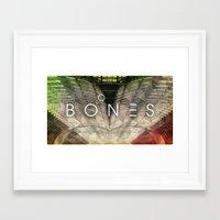 bones Framed Art Prints featuring Bones by Vin Zzep