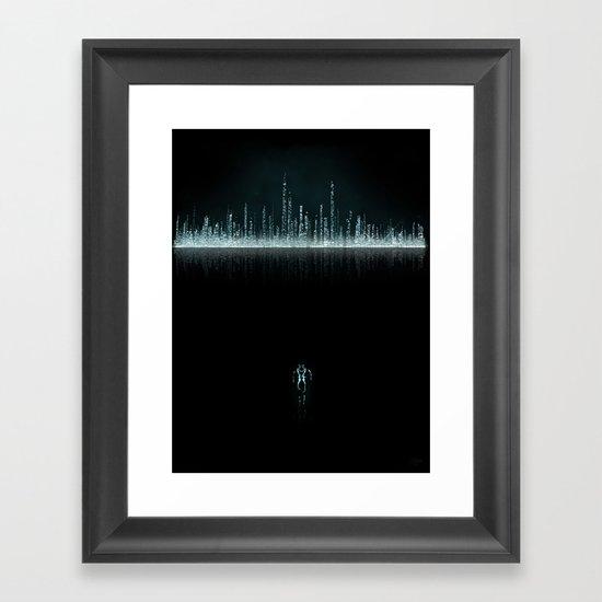 TRON CITY Framed Art Print