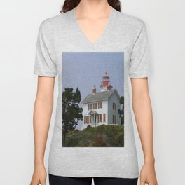 Historic Yaquina Bay Lighhouse Unisex V-Neck