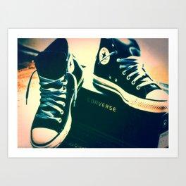 Converse Sneakers Art Print