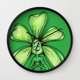 """Green"" Color Chakra Flowerkid Wall Clock"