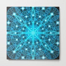 Electric Universe Mandala Metal Print