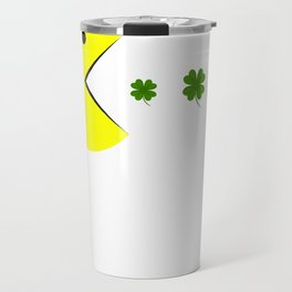 Saint Patricks Day Funny Shamrock Kids Women Men Travel Mug