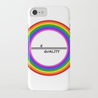 equality iPhone & iPod Cases featuring Equality by LukaG