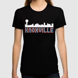 Red White Blue Knoxville Tennessee Skyline T-shirt