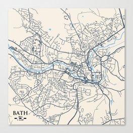 Bath Map Canvas Print