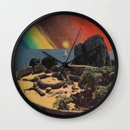 Green Flash Sunset Wall Clock