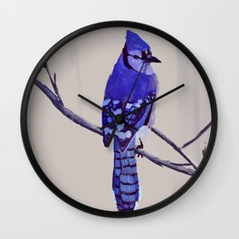 Blue Jay Bird Wall Clock