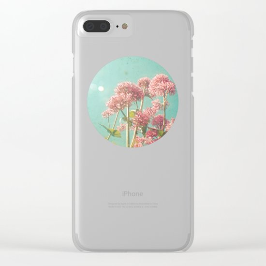 Pink Milkweed Clear iPhone Case