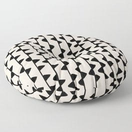 Triangles / Black & White Pattern Floor Pillow