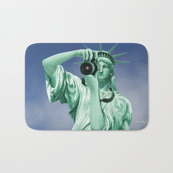 Say cheese for Liberty! Bath Mat