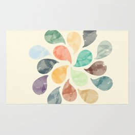 Colorful Water Drops (Watercolor version) Rug