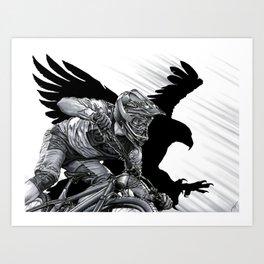 Race The Wind Art Print