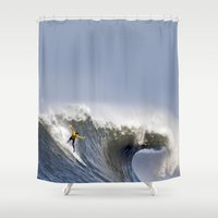 jay fleck Shower Curtains featuring Jay Moriarity by Rothko