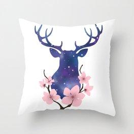 Blossom Deer Throw Pillow