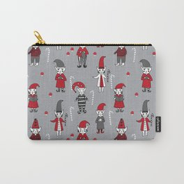 Elves santa's workshop pattern cute elf design illustrated hand drawn Carry-All Pouch
