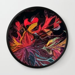 Magic Flowers Wall Clock