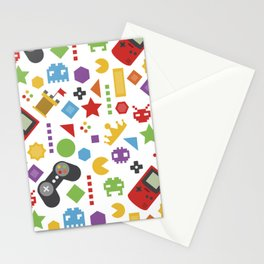 video game pattern Stationery Cards