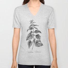 Stinging Nettle Botanical Illustration Unisex V-Neck
