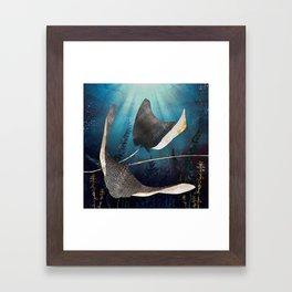 Metallic Stingray Framed Art Print