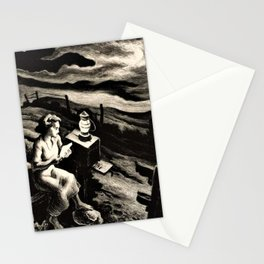 Classical Masterpiece 'Letter from Overseas' by Thomas Hart Benton Stationery Cards