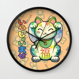 Maneki Neko Lucky Wall Clock