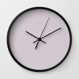 Periwinkle Pastel Purple Solid Color Pairs W/ Behr Paint's 2020 Forecast Trending Color Dusty Lilac Wall Clock