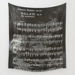 Brahms Sheet Music - Ballade Wall Tapestry