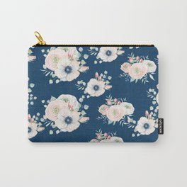 Dog Rose Pattern Carry-All Pouch