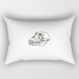 Baboon Skull Rectangular Pillow