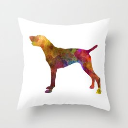 German Shorthaired Pointer in watercolor Throw Pillow