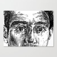 ali gulec Canvas Prints featuring Ali by hitit